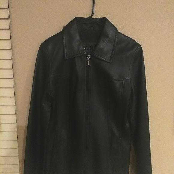 Winlet black leather jacket